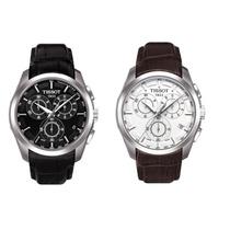 Relógio Tissot Couturier Couro Original Com Garantia 1 Ano