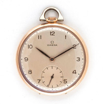 Relógio De Bolso Omega - Modelo Circa 1947 - Ouro Rosa 18k