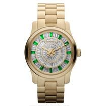 Relógio Michael Kors Mk5730 Dourado Com Cristal Frete Grátis