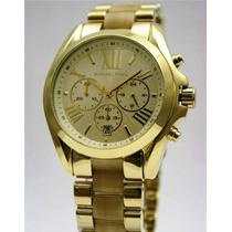 Michael Kors Mk5722 Bradshaw Horn Gold Chrono Dial
