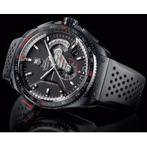 Relógio Tag Calibre 36 Grand Carrera Automático Borracha