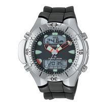 Relógio Citizen Aqualand Ii Jp1060-01e Pulseira De Borracha
