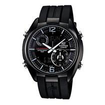 Relógio Casio Edifice Era-100pb-1av Black Rubber Quartz