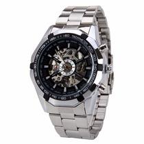 Relógio Importado Winner Skeleton Automático Pronta Entrega