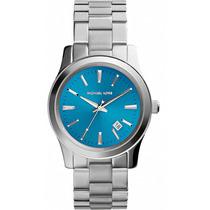 Relógio Michael Kors Mk5914 Prata E Azul Lançamento 2014