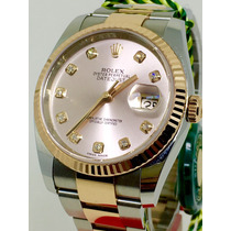 Rolex Datejust Ouro Rosé/aço 36 Mm 2014 Novo Aceito Troca