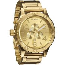 Relógio Nixon Dourado 51-30 Chrono Masculino - Original