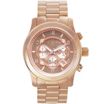 Relógio De Luxo Michael Kors Mk8096 Chron Anal Ourorosé Imac
