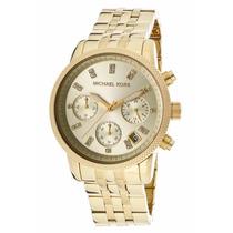 Relógio Feminino Michael Kors Mk5676 Dourado C/ Cristais
