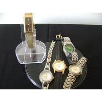 Lote De 06 Relógios De Pulso Marcas Variadas