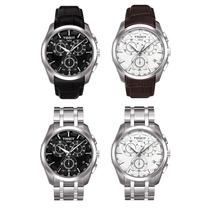 Relógio Tissot Couturier Preto / Branco Aço / Couro Original