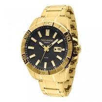 Relógio Technos 2415bt/4p Folheado A Ouro Frete Grátis