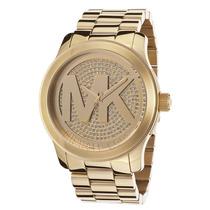 Relógio Michael Kors Mk5706 Dourado Com Cristal!