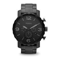 Relógio Masculino Fossil Nate Fjr1401/z Aço Inox Original
