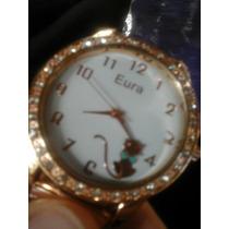Kit C/10 Relógios Femenino Dourados Prata E Bronze Atacado