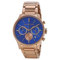 Relógio Michael Kors Mk5911 Rose E Azul Lindo Frete Grátis.
