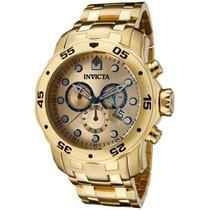 Relógio Invicta Scuba Diver 0074 Banhado Ouro Original Caixa