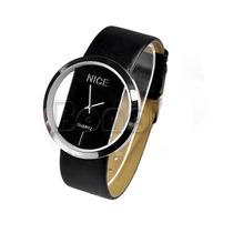 Relógio Marca Transparente Luxo Preto (promoção)