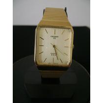 Relógio De Pulso Masculino Em Plaquê De Ouro