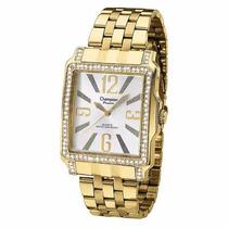 Relógio Champion Passion Feminino Quadrado Dourado Ch24222h