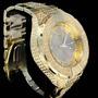 Relógio Hip Hop Dourado 2 Luxocom Brilhantes