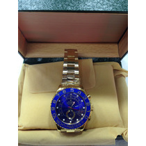 Relógio Yacht Master 2 Ouro Gold Fundo Azul Safira Sedex