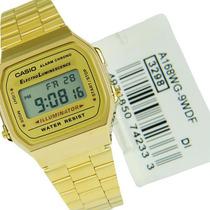 Relógio A168wg A168 Retrô Vintage Dourado Gold A159 A178