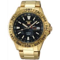 Relógio Seiko Sports 4r36ba/1 Automatico Srp440 Dourado