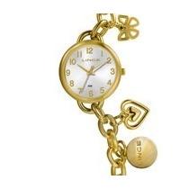 Relógio Lince Dourado Feminino (orient) Lrg4247l Prova Dágua