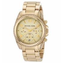 Relógio Michael Kors Mk5166 Dourado Midsize Garantia