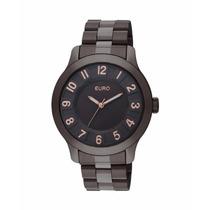 Relógio Feminino Technos Euro Eu2035vl/4m Marrom 5 Atm