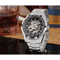 Relógio Winner Pulseira Aço Automático Import. Veja O Vidio