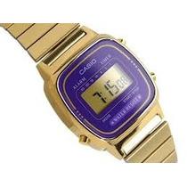 Relógio Feminino Casio 670 Lilás 100% Original Modelo Mini