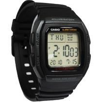 Relógio Casio W-96 H-1b Wr-50m Hora Dual Alarme W96 12/24h P