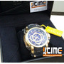 Jtime Invicta 19328 - S1 Rally Pulseira Preta Mostrador Azul