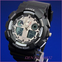 Relógio Ohsen Sport Hora Mundial Dual Time Alarme/crono