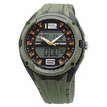 Relógio Mormaii Masc. Esportivo Ad0980/8u - Verde/ Original