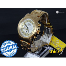 Invicta Specialty 15216 Banhado Ouro 18k 46mm Polido Origina