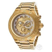 Relógio Invicta 14737 Subaqua Gold Original Na Caixa.