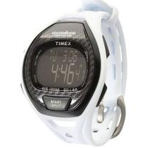 Relogio Timex T5k339 Branco Triathlon 50 Lap Wr100 Crono Tim