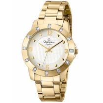 Relógio Champion Feminino Dourado Wr 50m Cn27312h Elegance