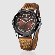 Relógio Masculino Esportivo Militar Quartz -couro Importado