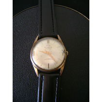 Antigo Relógio De Pulso Masculino Em Plaquê De Ouro Mondaine