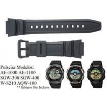 Pulseira P/ Casio Ae-1000w Ae-1100w Sgw-300 Sgw-400 W-s210