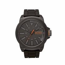 Relógio Hugo Boss De Luxo Com Pulseira Couro Preto Masculino