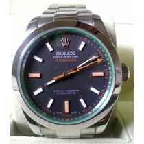 Relógio Eta Milgauss Preto + Caixa, Manual, Garantia