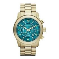 Relógio Michael Kors Mk8315 Dourado Turquesa Frete Grátis