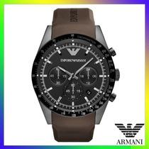 Relógio Emporio Armani Ar5986 Preto E Marrom Frete Grátis.