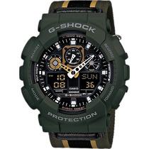 Relógio Casio G-shock Ga-100 Mc-3a H.mundial 5 Alarmes 200m