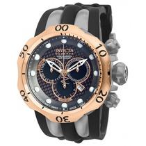 Relógio Invicta Reserve Venom 14518 Misto Rosê/chumbo Novo !